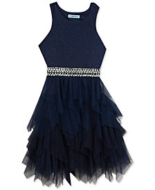 Rare Editions Big Girls Embellished Glitter Dress