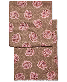 COACH Signature C Rose Scarf