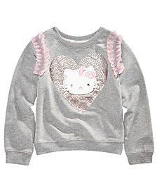 Hello Kitty Little Girls Ruffle-Trim Sweatshirt