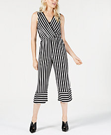 Be Bop Juniors' Striped Sleeveless Jumpsuit