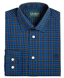 Lauren Ralph Lauren Big Boys Cobalt Plaid Shirt