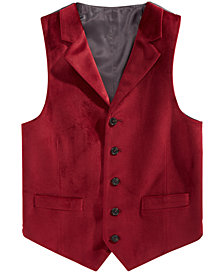 Lauren Ralph Lauren Big Boys Red Velvet Vest