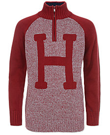 "Tommy Hilfiger Big Boys ""H"" Quarter-Zip Sweater"