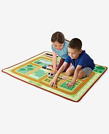 Melissa & Doug Round the Barnyard Farm Rug Playmat
