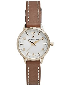 Lucky Brand Women's Torrey Mini Brown Leather Strap Watch 28mm