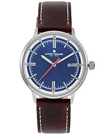Lucky Brand Men's Fairfax Brown Leather Strap Watch 40mm