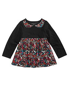 First Impressions Toddler Girls Floral-Print Cotton Peplum Tunic, Created for Macy's