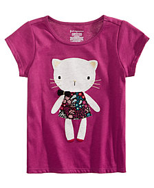 First Impressions Toddler Girls Cat-Print Cotton T-Shirt, Created for Macy's