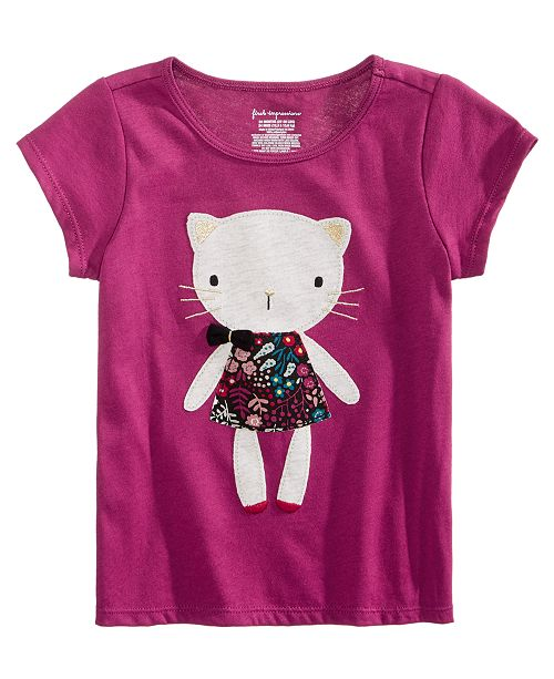 d6b1c22719f71 First Impressions Baby Girls Cat-Print Cotton T-Shirt, Created for ...