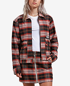Volcom Juniors' Frochickie Plaid Zip-Front Jacket