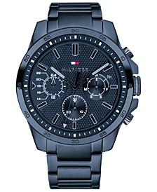 Men's Blue Stainless Steel Bracelet Watch 46mm