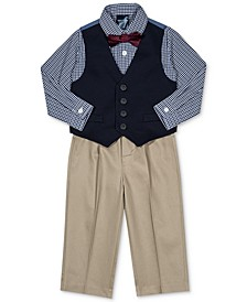 Baby Boys 4-Pc. Plaid Bow Tie, Vest, Shirt & Pants Set