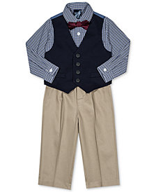 Nautica Baby Boys 4-Pc. Plaid Bow Tie, Vest, Shirt & Pants Set