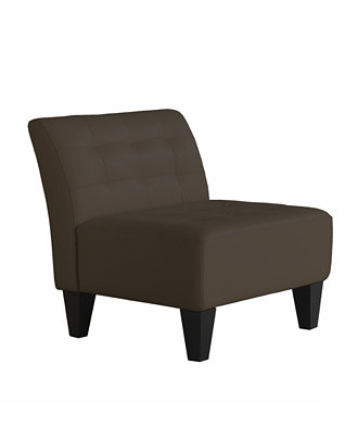 Orso Leather Armless Living Room Chair Furniture Macy 39 S