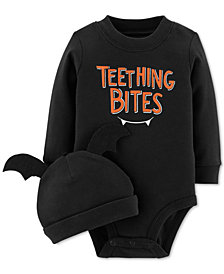 Carter's Baby Boys & Girls 2-Pc. Cotton Hat & Bodysuit Set