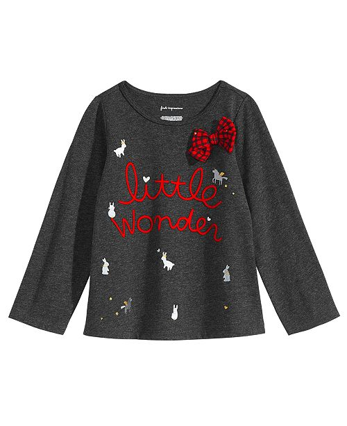 a8055a7d0748cc First Impressions Baby Girls Wonder-Print T-Shirt, Created for ...