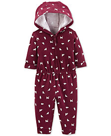 Carter's Baby Girls Cat-Print 1-Pc. Jumpsuit