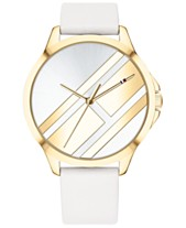 212701c99e4 Tommy Hilfiger Women s White Leather Strap Watch 38mm Created for Macy s