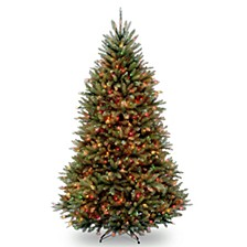 National Tree 6 .5' Dunhill Fir Hinged Tree with 650 Multi Lights