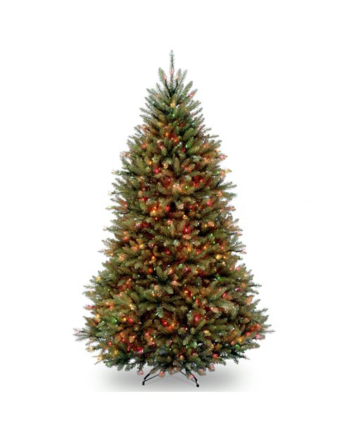 National Tree Company National Tree 6 .5' Dunhill Fir Hinged Tree with 650 Multi Lights