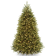 National Tree 7 .5' Dunhill Fir Hinged Tree with 750 Clear Lights & PowerConnect System