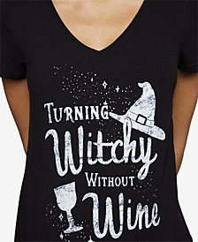 Turning Witchy Without Wine™ Maternity Halloween Graphic Tee
