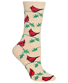 Hot Sox Women's Cardinals Crew Socks