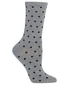 Hot Sox Women's Small Dot Crew Socks