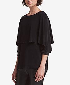 DKNY Ruffled 3/4-Sleeve Top, Created for Macy's