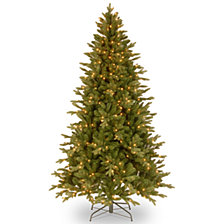 "National Tree 6.5' ""Feel Real"" Avalon Spruce Medium Hinged Tree with 400 Clear Lights"
