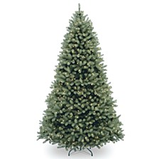 National Tree 6 .5' Feel Real Downswept Douglas Blue Fir Hinged Tree with 650 Clear Lights