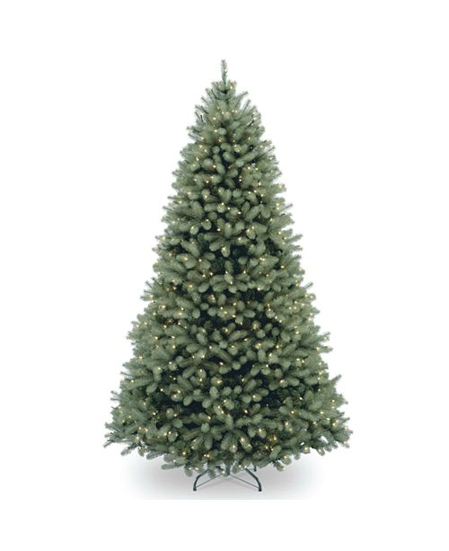 National Tree Company National Tree 6 .5' Feel Real Downswept Douglas Blue Fir Hinged Tree with 650 Clear Lights