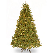 "National Tree 9' ""Feel Real"" Grande Fir Medium Hinged Tree with 900 Clear Lights"