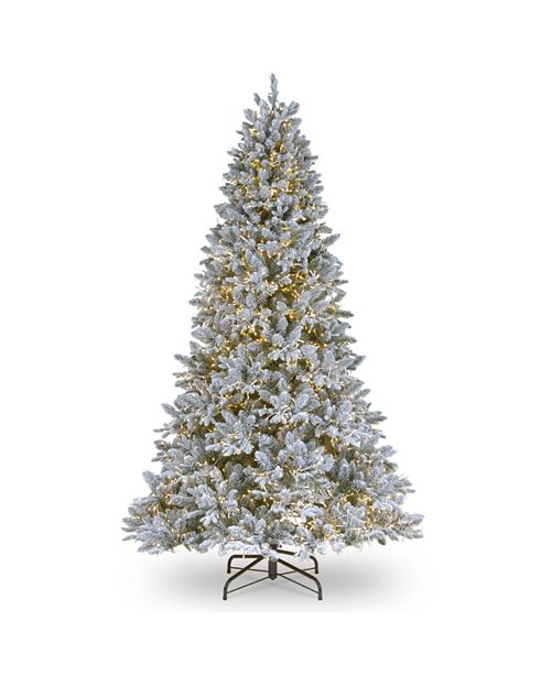 National Tree Company National Tree 7 .5' Feel Real  Iceland Fir Hinged Tree with 750 Dual Color  LED Lights