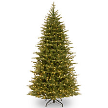 National Tree Company 6 .5' Feel Real   Nordic Spruce Slim Hinged Tree with 650 Clear Lights
