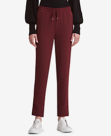 DKNY Drawstring Straight-Leg Pants, Created for Macy's