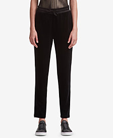 DKNY Velvet Pull-On Pants, Created for Macy's