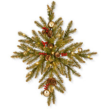 "National Tree Company 32"" Gold Dunhill Fir Bethlehem Star w/ 35 Warm White Battery Operated LED Lights"