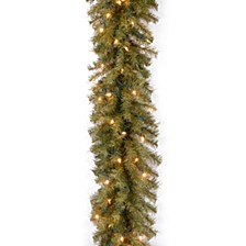 "9' x 10"" Norwood Fir Garland with 50 Clear Lights"