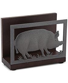 Thirstystone Acacia Wood Pig Napkin Holder