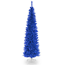 National Tree 6 ft. Blue Tinsel Tree
