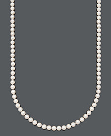 "Belle de Mer Pearl Necklace, 30"" 14k Gold A+ Cultured Freshwater Pearl Strand (7-1/2-8mm)"