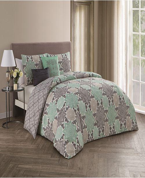 Geneva Home Fashion Greer 5-Pc. Comforter Sets