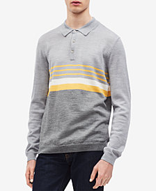 Calvin Klein Men's Colorblocked Stripe Polo