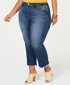 Celebrity Pink Plus Size Raw-Hem Skinny Jeans