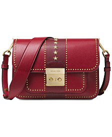 7098da9dba MICHAEL Michael Kors Sloan Editor Star Studded Leather Shoulder Bag