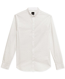 A|X Armani Exchange Men's Slim-Fit Logo Dot Shirt