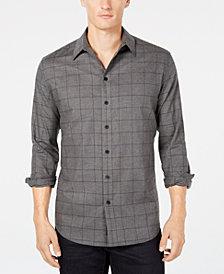 DKNY Men's Windowpane Shirt