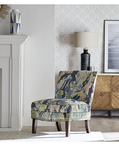 Furniture Coryn Fabric Accent Chair Quick Ship Amp Reviews