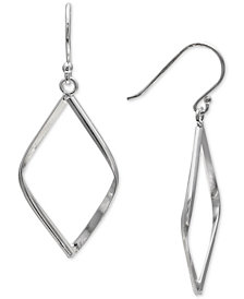 Giani Bernini Pointed Teardrop Drop Earrings in Sterling Silver, Created for Macy's